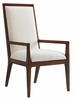 Tommy Bahama Home - Island Fusion Natori Slat Back Arm Chair in Off White Fabric - 01-0556-881-02