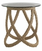 Tommy Bahama Outdoor - Aviano End Table With Glass Top - 01-3220-953C