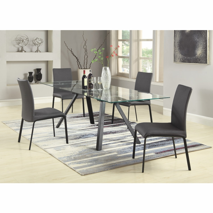 Chintaly - Aida 5 Pieces Dining Set Table With 4 Side Chairs - AIDA-5PC