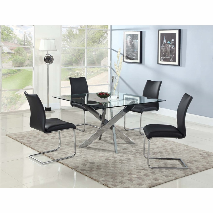Chintaly - Pixie 5 Pieces Dining Set Table With 4 Jane Side Chairs - PIXIE-JANE-5PC