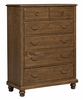 Vaughan Bassett - Arrendale Flagg Hill 5 Drawer Chest In Antique Cherry - 440-115