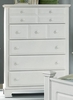 Vaughan Bassett - Barnburner Chest 5 Drawers In Snow White - BB6-115