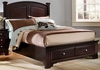 Vaughan Bassett - Barnburner King Panel Bed With Storage In Merlot - BB4-668_066B_TT-666T_502