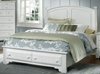 Vaughan Bassett - Barnburner King Panel Bed With Storage In Snow White - BB6-668_066B_TT-666T_502