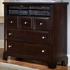 Vaughan Bassett - Barnburner Media Cabinet 3 Drawers Open Shelf In Merlot - BB4-114