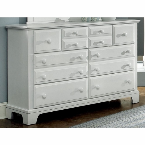 Vaughan Bassett - Barnburner Triple Dresser 7 Drawers In Snow White - BB6-002
