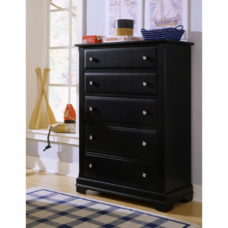 Vaughan Bassett - Cottage Chest 5 Drawers In Black - BB16-115