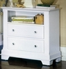 Vaughan Bassett - Cottage Commode 2 Drawers And Shelf In Snow White - BB24-227