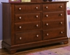 Vaughan Bassett - Cottage Double Dresser 6 Drawers In Cherry - BB19-001