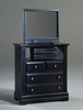 Vaughan Bassett - Cottage Media Cabinet 2 Drawers Open Shelf In Black - BB16-114
