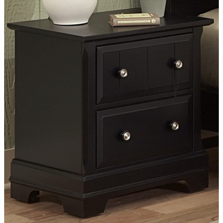 Vaughan Bassett - Cottage Night Stand 2 Drawers In Black - BB16-226