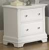 Vaughan Bassett - Cottage Night Stand 2 Drawers In Snow White - BB24-226