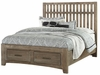 Vaughan Bassett - Cottage Too King Slat Bed With Storage In Grey - 72-668_066B_502_TT-666T