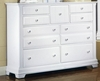 Vaughan Bassett - Cottage Triple Dresser 9 Drawers In Snow White - BB24-002