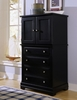 Vaughan Bassett - Cottage Vanity Chest 2 Doors 4 Drwrs 1 Adj Shelf In Black - BB16-116