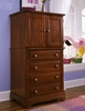 Vaughan Bassett - Cottage Vanity Chest 2 Doors 4 Drwrs 1 Adj Shelf In Cherry - BB19-116