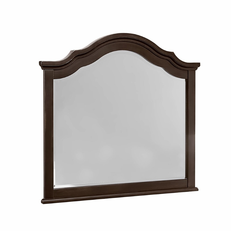 Vaughan Bassett - French Market Arched Mirror In Antique Merlot - 380-447