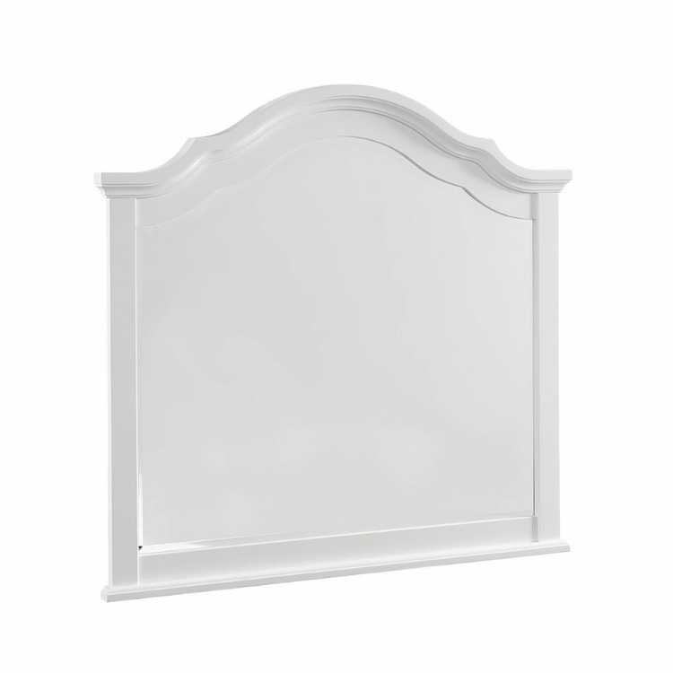 Vaughan Bassett - French Market Arched Mirror In Soft White - 384-447