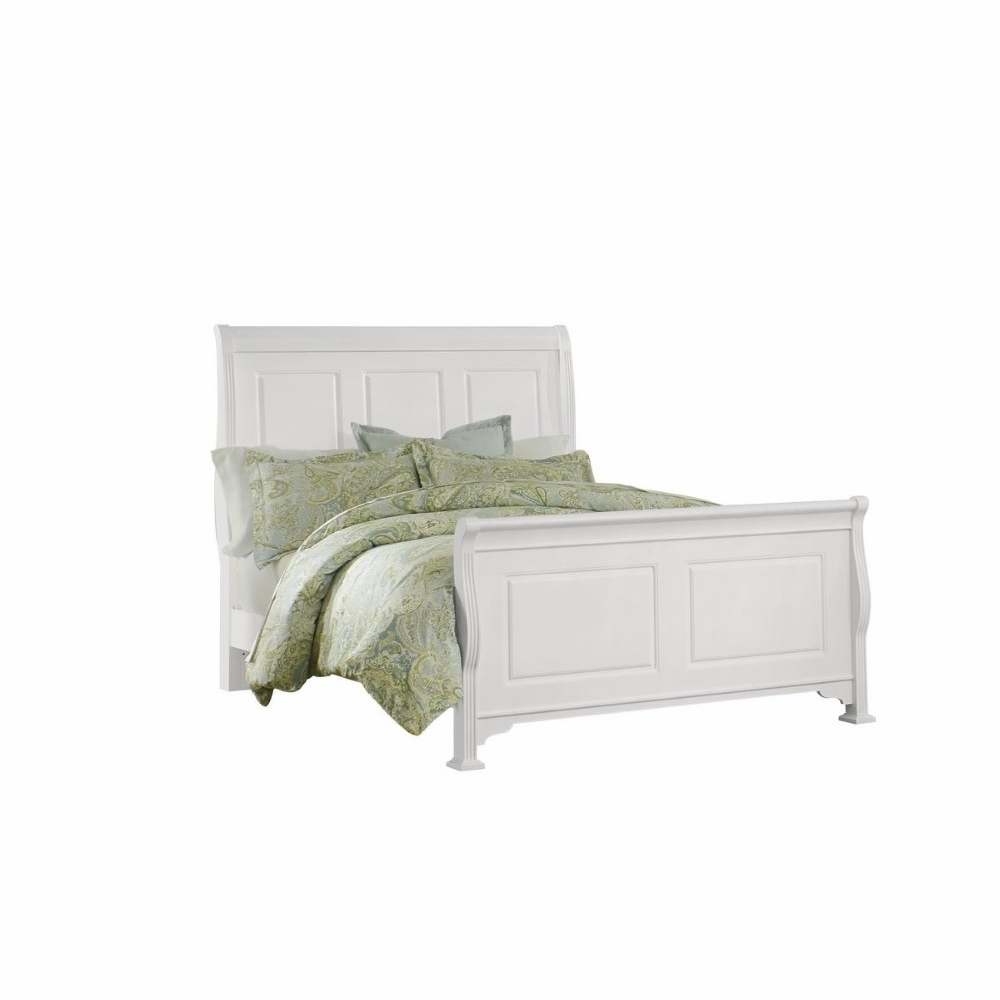 Stylish Soft White King Storage Sleigh Bed Bedroom: French Market King Sleigh Bed In Soft