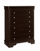 Vaughan Bassett - French Market Storage Chest 5 Drawers In Antique Merlot - 380-115