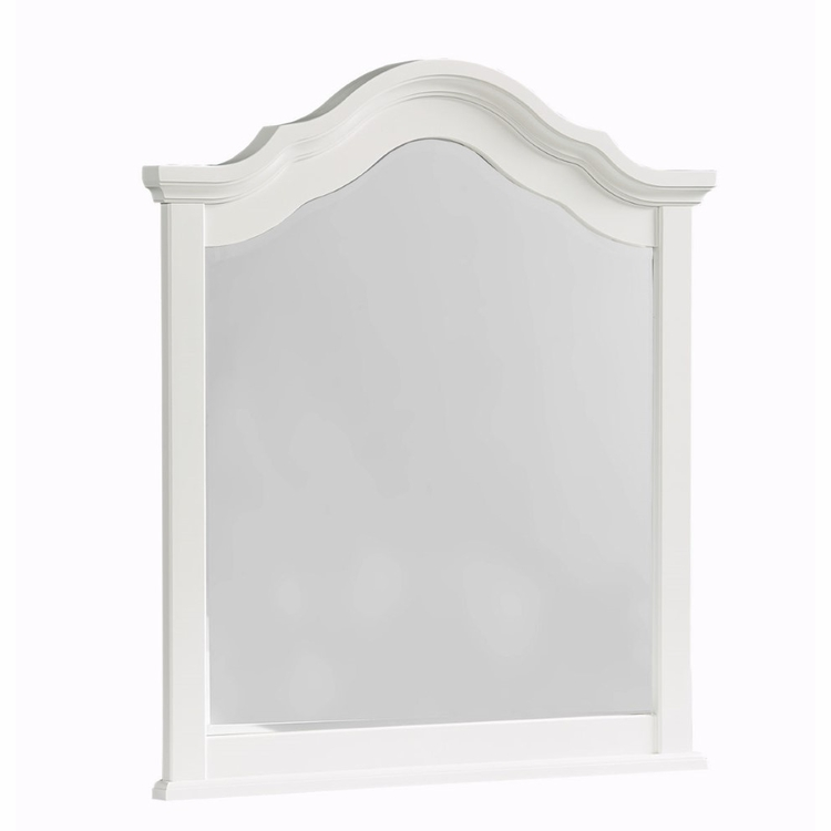 Vaughan Bassett - French Market Youth Arched Mirror In Soft White - 384-443