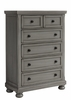 Vaughan Bassett - Reflections Chest 5 Drawers Cedar Lined Bottom Drwr In Antique Pewter - 531-115