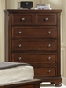 Vaughan Bassett - Reflections Chest 5 Drawers Cedar Lined Bottom Drwr In Merlot - 530-115