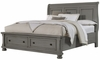 Vaughan Bassett - Reflections King Sleigh Bed With Storage In Antique Pewter - 531-066B_666T_502_663