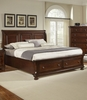 Vaughan Bassett - Reflections King Sleigh Bed With Storage In Merlot - 530-663_066B_666T_502