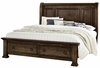 Vaughan Bassett - Rustic Hills King Sleigh Bed With Storage In Coffee - 680-663_066B_502_TT-666T