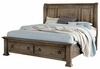 Vaughan Bassett - Rustic Hills King Sleigh Bed With Storage In Grey - 682-663_066B_502_TT-666T