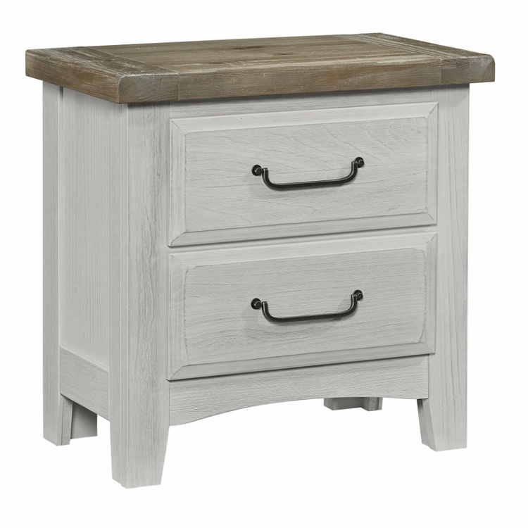 Vaughan Bassett Sawmill Drawer Nightstand Alabaster
