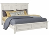Vaughan Bassett - Timber Creek King Mansion Bed In Distressed White - 674-667_766_922_MS-MS1