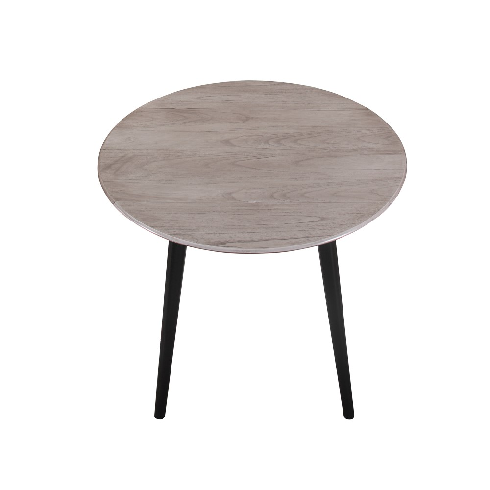 """Wallace & Bay - Acevedo 22"""" Round Dining Table with Drop ..."""