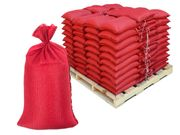 Filled Sandbags � Red DuraBags with 10,000 Hours UV Protection - Pallet of Pre-Filled Gravel or Sand Bags