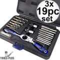 Astro Pneumatic 7580 Automotive Drill + Tap Set - SAE 3x