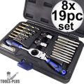 Astro Pneumatic 7580 Automotive Drill + Tap Set - SAE 8x