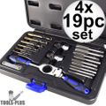 Astro Pneumatic 7581-4 19pc Automotive Drill + Tap Set - Metric 4x