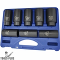 Astro Pneumatic 78866 6 Point Axle Nut Socket Set 8 Pieces