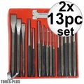 Astro Pneumatic Tool 1600 16-Piece Punch and Chisel Set 2x
