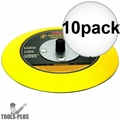 """Astro Pneumatic Tool 4607 5"""" Hook and Loop Flexible Backing Plate 10x"""