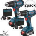 "Bosch DDB181-02-RT 18V Li-Ion 1/2"" Compact Tough 2-Batt Drill/Drive 2x"