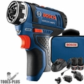Bosch GSR12V-140FCB22 12V Max FlexiClick5-in-1 Drill Driver Kit w/2ah Batts