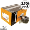"Bostitch C12P120D Box of 2700 3-1/4"" Smooth Shank 15° Coil Framing Nails"