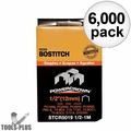 "Bostitch STCR5019 6,000pk 1/4"" x 7/16"" Medium Crown Fine Wire Staples"