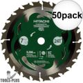 "Hitachi 115429 50x 7-1/4"" 24-Tooth Carbide Circular Saw"