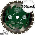 "Hitachi 115429 7-1/4"" 24-Tooth Carbide Circular Saw 100x"