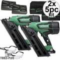 "Hitachi NR1890DC 2"" to 3-1/2"" 18V Cordless Paper Strip Framing Nailer 2x"
