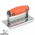 """Kraft Tool CF141PF 6"""" x 3"""" Stainless Steel Concrete Edger w/ Curved End"""