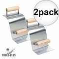 """Kraft Tool CF513 Stainless Curb Tool,2""""R Curb,90° Gutter w/Wood Handle 2x"""